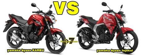 komparasi yamaha byson karbu vs yamaha byson injeksi pertamax7.com