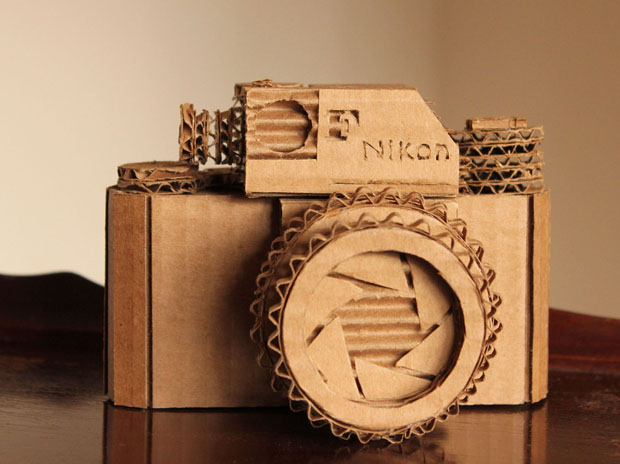 Craft Idea: Turn a Cardboard Box Into a Replica of Your Camera cardboardnikonf 0
