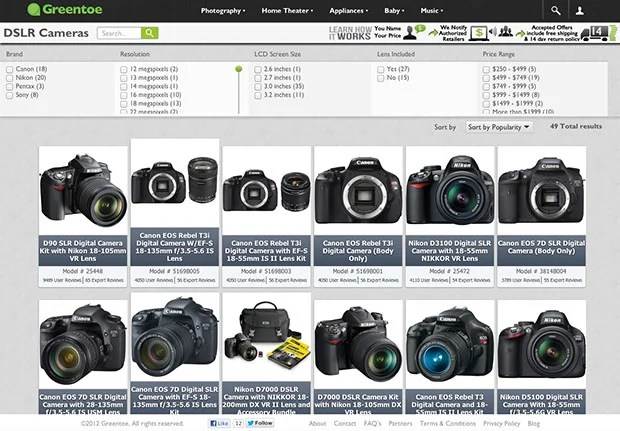 Greentoe Lets You Save Some Dough on Camera Gear by Naming Your Own Price greentoe1