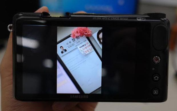 Android Powered Samsung NX Spotted in Leaked Photograph? samsungnxandroid