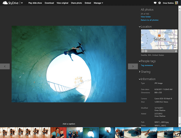 Microsoft Updates SkyDrive With Fancy Photo Timeline and Faster Uploads skydrive2