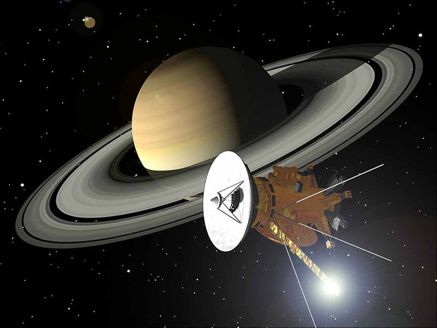 Cassini Snaps New Photographs Showing Earth Next to Saturns Rings 800px Cassini am Saturn