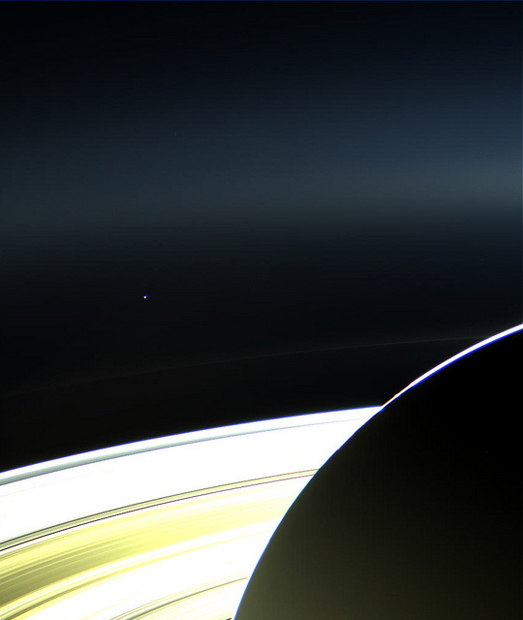 Cassini Snaps New Photographs Showing Earth Next to Saturns Rings 9333090194 4a866365eb z