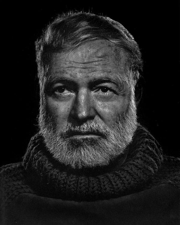 Portraits of the Bearded Men in an Ernest Hemingway Look Alike Contest Hemingway