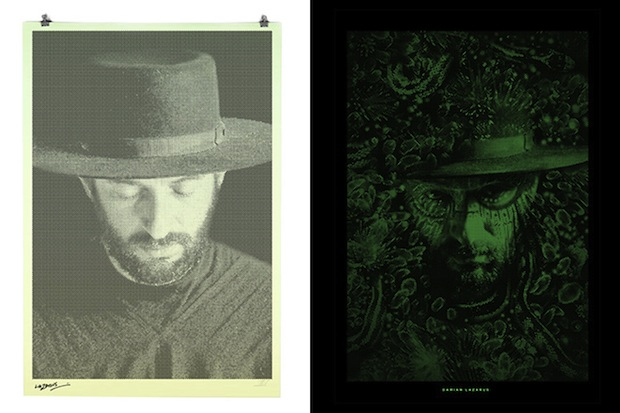 These Binary Prints by Alex Trochut Show Different Portraits in Light and Darkness binary2