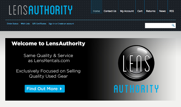 LensRentals Launches LensAuthority as a Used Gear Outlet lensauthority1