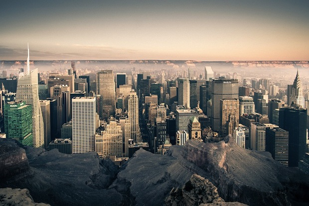 Photos of New York City Inside the Grand Canyon Contrast Emptiness and Density merge2