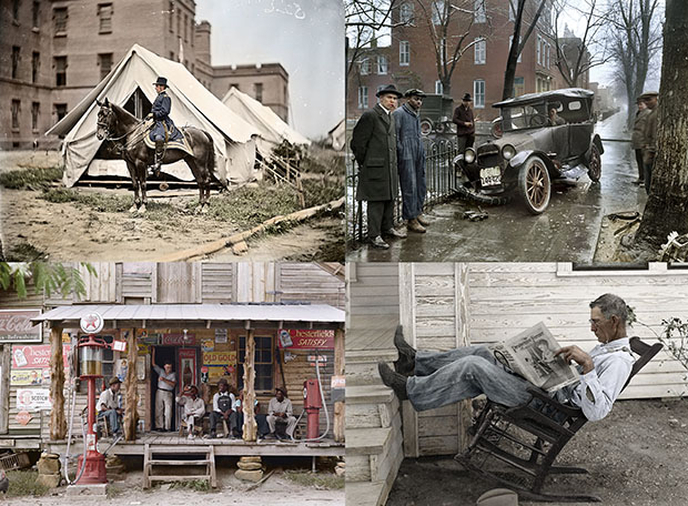 Colorizing Photoshoppers Put a New Spin on Old Historical Photos colorized