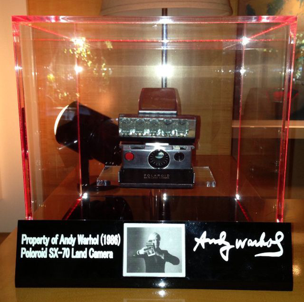 Andy Warhols 1986 SX 70 Polaroid Land Camera Selling on eBay for $  50,000 warholpolaroid2