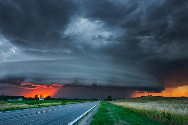 Fırtınalı Nebraska Sunset