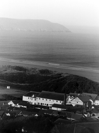 View down into Woolacombe
