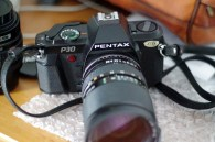 The Pentax P30, 35mm film camera weighs about 510 grams and is therefore easy to carry and handle.