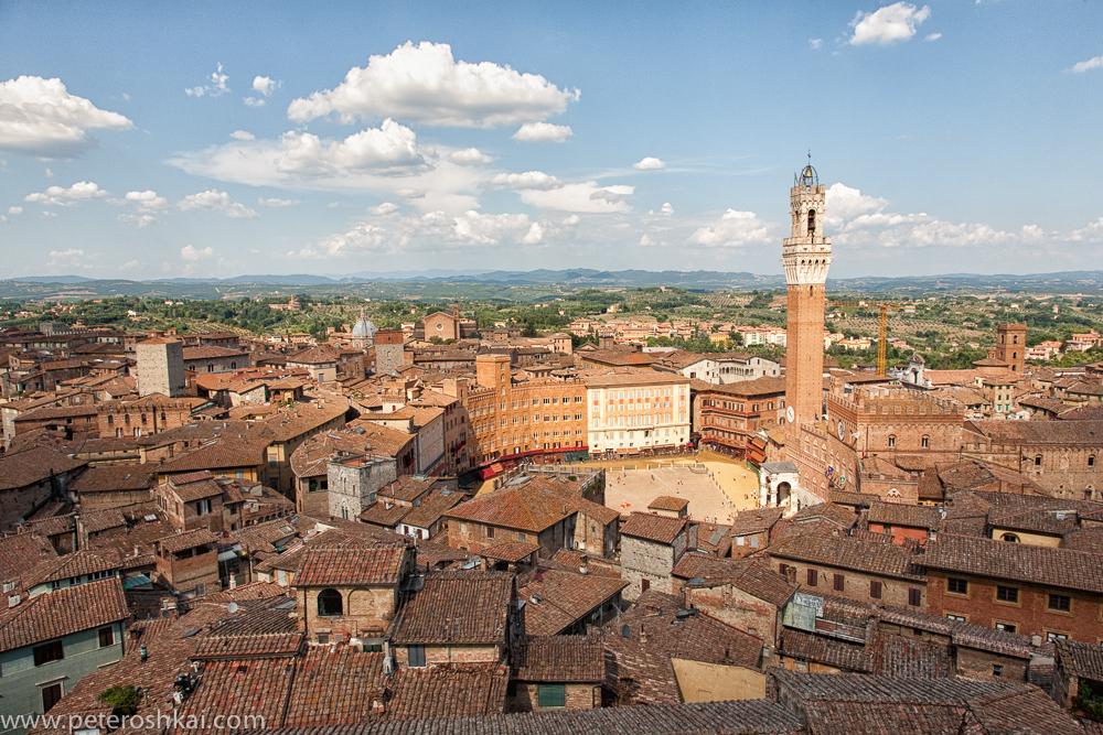 Panoramic view of Siena. Italy.