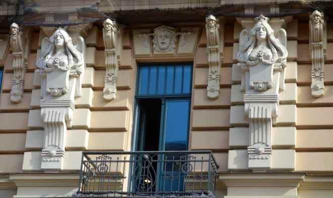 Lettland, Riga, Jugendstilfassade