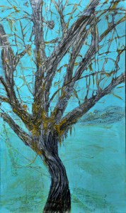 17. tree sketch 1-90x 60cm mm resin and mixed media on  canvas