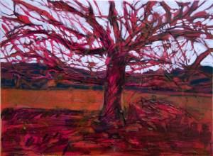 red tree white sky60x46 cm