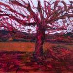 red tree white sky60x46 cm