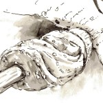 snake ink pen_wash detail