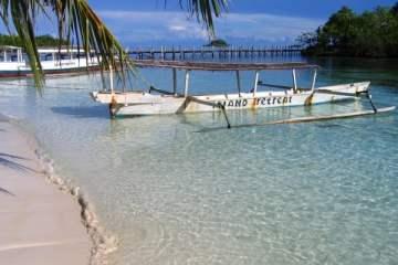 Island Retreat, Togian Islands. Sulawesi, Indonésie, juillet 2007.