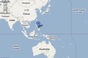 Carte Google des Philippines.