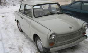 Right-hand drive Trabant 601 in the snow