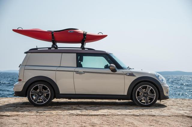 MINI Clubvan Camper with canoe on the roof