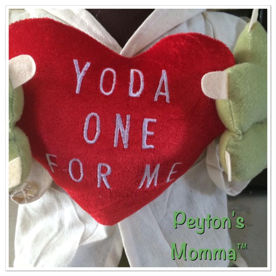 Yoda 21 inch Valentine's Day Plush