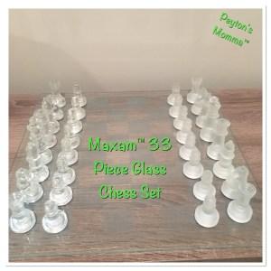 Maxam™ 33pc Glass Chess Set