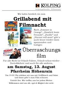 160813 Plakat Filmnacht ohne Filmtitel