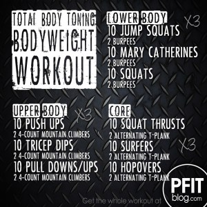 Killer Bodyweight Workout