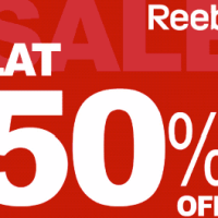 50% off Reebok TODAY ONLY!