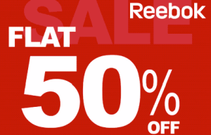 50% OFF REEBOK SALE