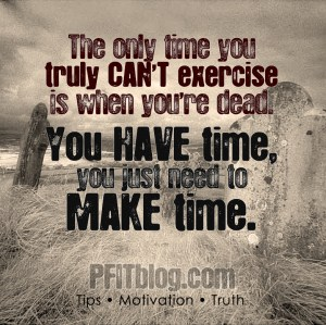 You HAVE time. Make time
