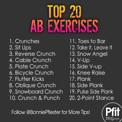 Top 20 Ab Exercises Pfitblog