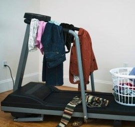treadmill coat hanger