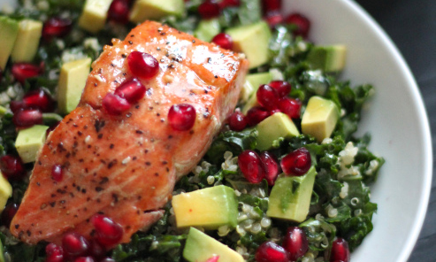 salmon with tabbouli