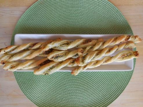 Pesto Parmesan Puff Pastry Twists (6)