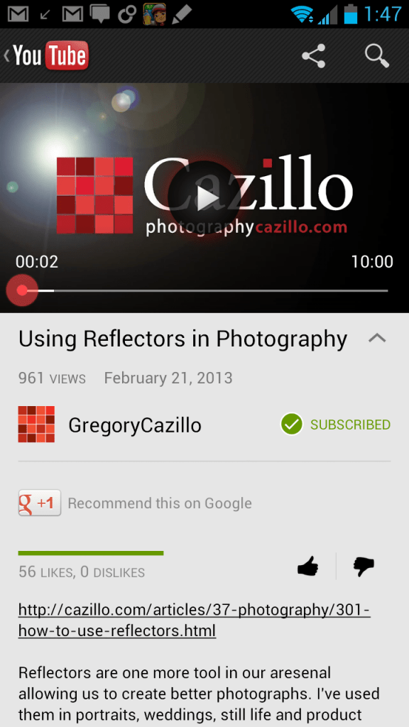 YouTube for Android update brings Google+ profiles, new notification controls