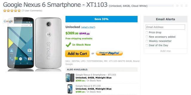 Nexus 6 DEAL Expansys USA