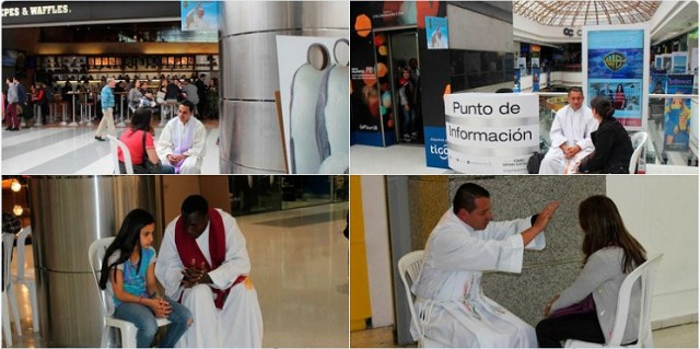 Confess-a-thon at Colombian mall draws 350 priests