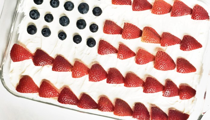 American Flag No-Bake Dessert