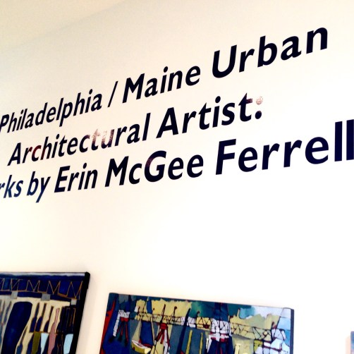 Artist Erin McGee Ferrell debuts solo show. Fryeburg Academy. Maine