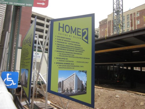 Dashing Sign Announcing New Being Built At Arch Home2 Suites Philadelphia Reviews Home2 Suites Philadelphia Conv Ctr