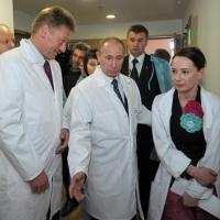Чулпан Хаматова и Владимир Путин
