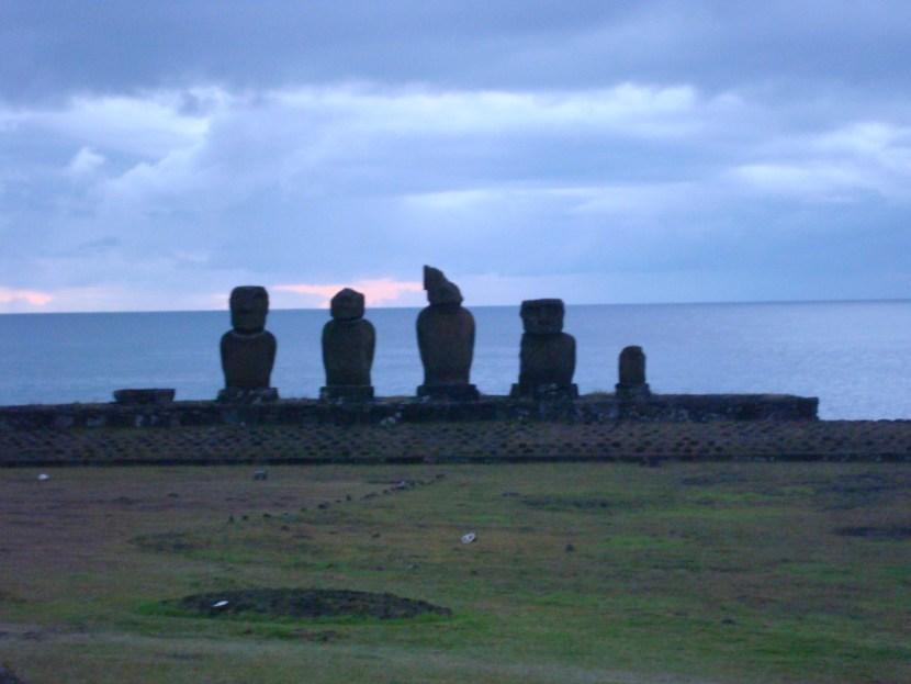 Moai Ahu at Hanga Roa Easter Island