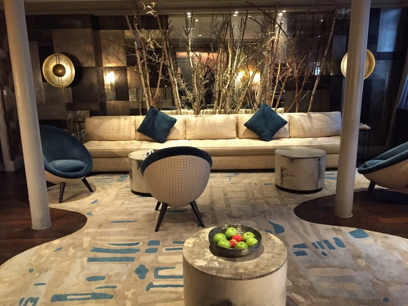 Hotel Therese Paris lobby lounge design