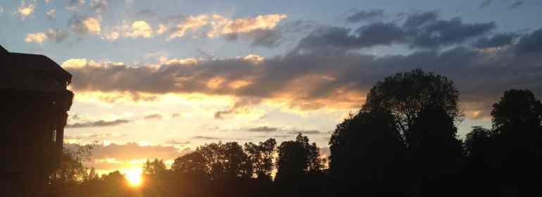 Sonnenuntergang über der Aare