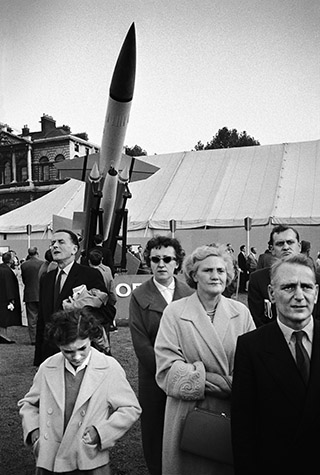 GB. ENGLAND. A Military Display in St. James's Park. The threat of nuclear annihilation concentrated the public' mind on the larger issues of the arms race. The government responded with shows of hardware meant to reassure the public. 1960