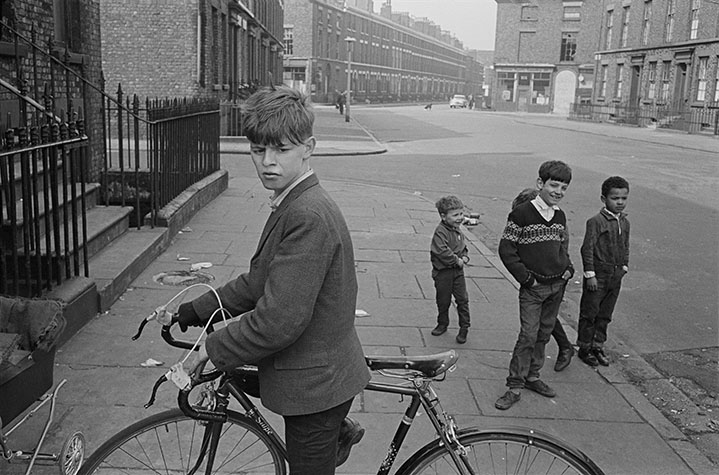 G.B. ENGLAND. Liverpool. Boy and a bike. 1966.