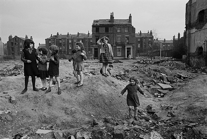 G.B. ENGLAND. Liverpool. Liverpool children on wasteland. 1966.